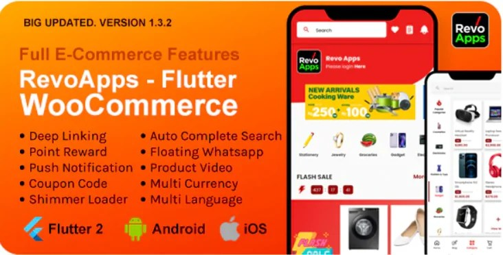 You are currently viewing Revo Apps Woocommerce 2.2.0 – Flutter E-Commerce Full App Android iOS