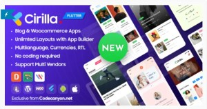 Read more about the article Cirilla 1.0.839 NULLED – Multipurpose Flutter App For WordPress & Woocommerce