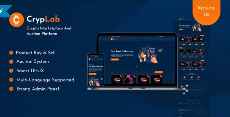 You are currently viewing CrypLab 1.0 NULLED – Crypto Marketplace Platform