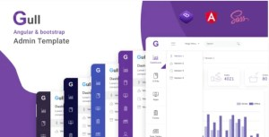 Read more about the article Gull 1.1.0 – Angular 12+ Bootstrap Admin Dashboard Template
