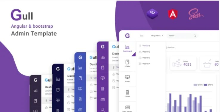 You are currently viewing Gull 1.1.0 – Angular 12+ Bootstrap Admin Dashboard Template