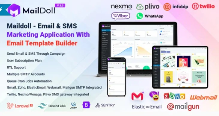 You are currently viewing Maildoll 3.0 – Email & SMS Marketing SaaS Application
