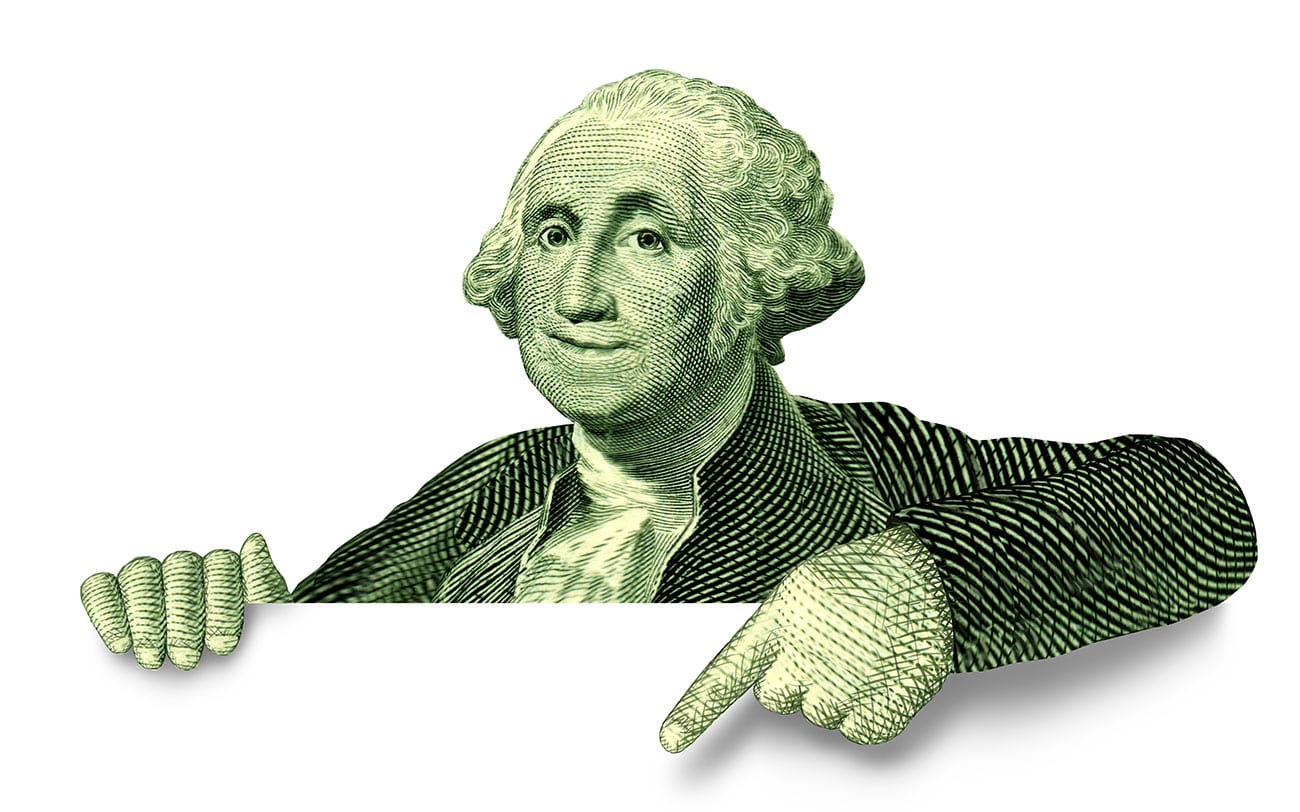 George Washington from the Dollar Bill