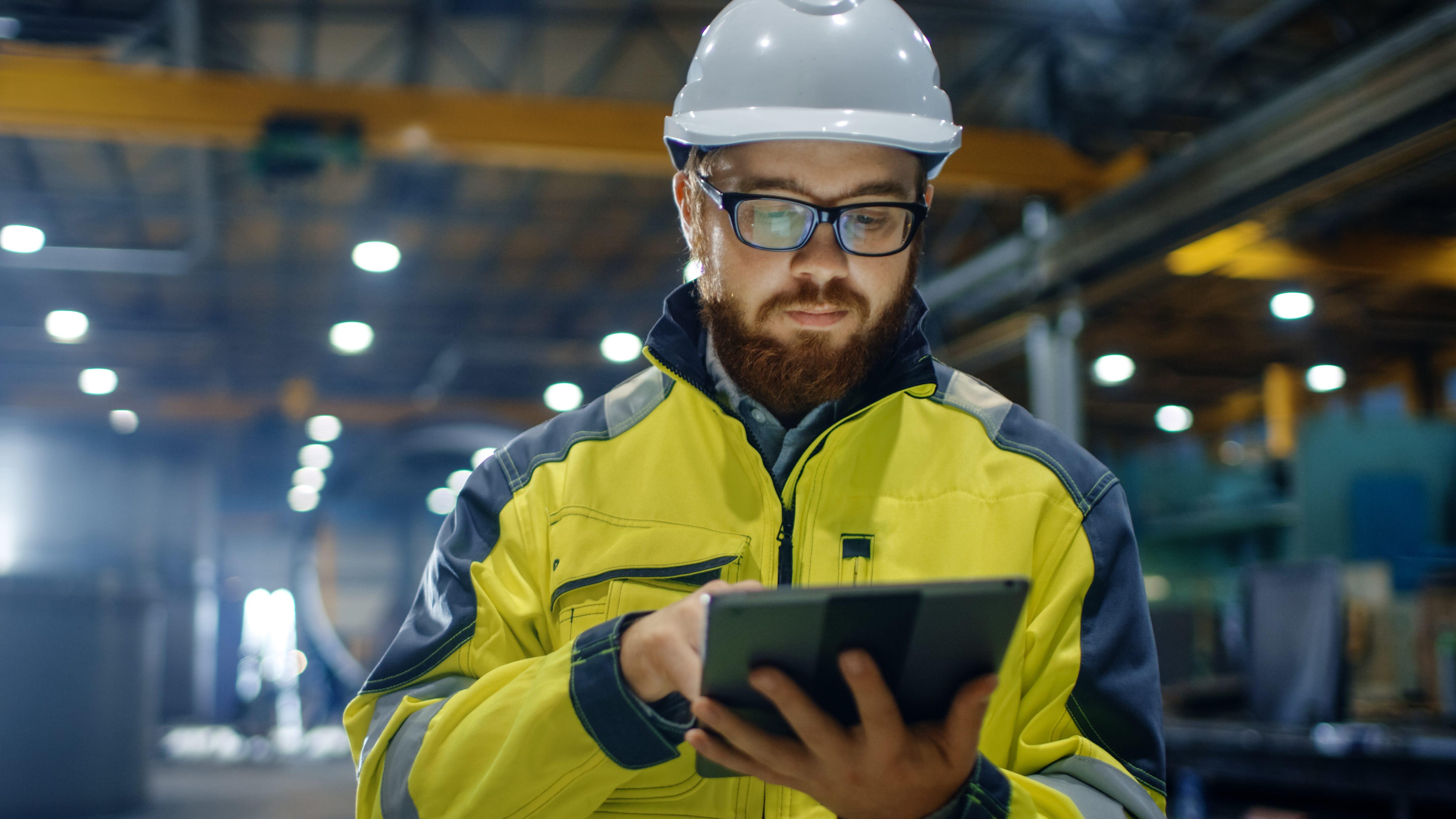 Industrial Engineer in Hard Hat