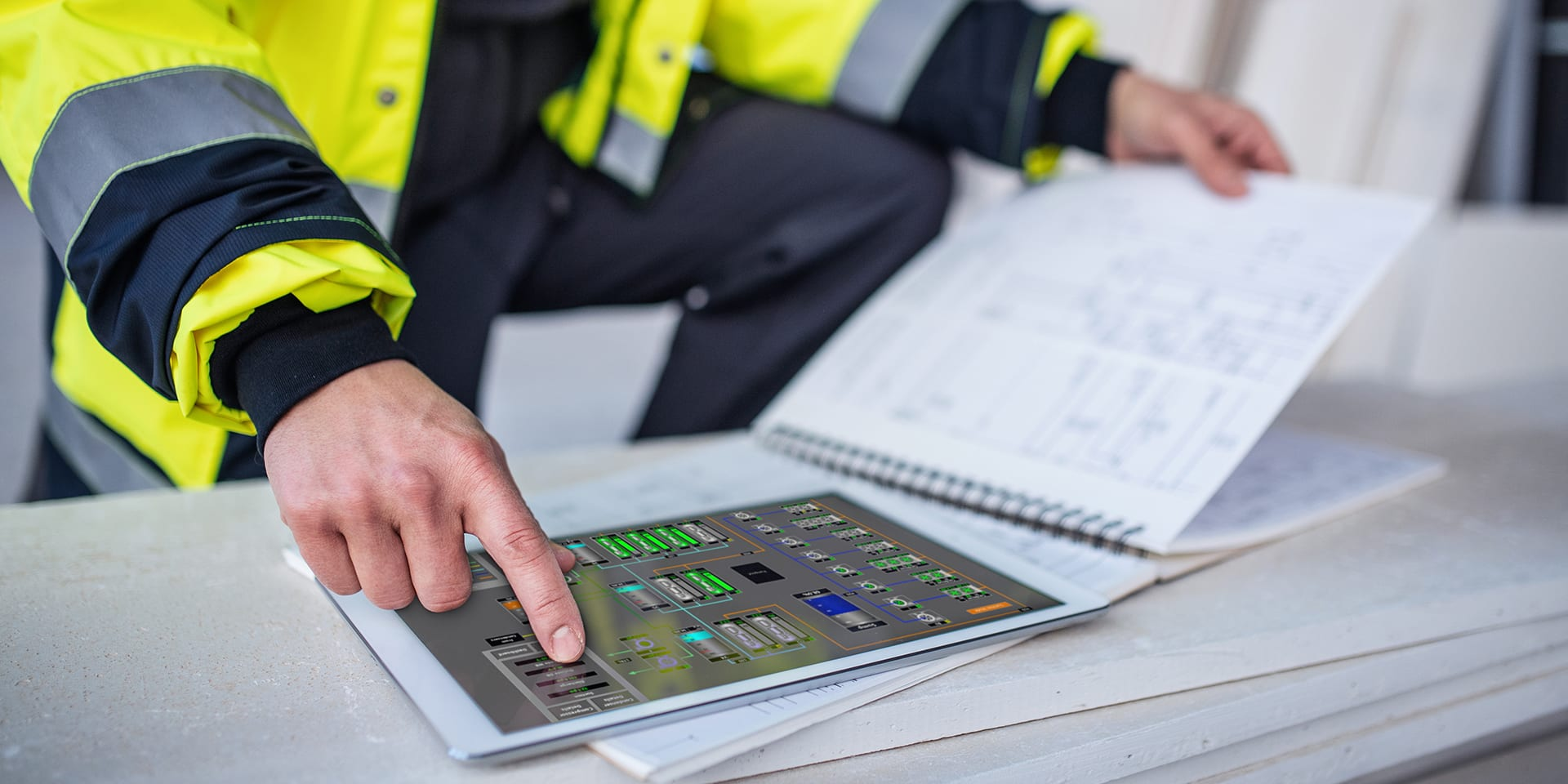 Tablet Controlled Industrial Controls