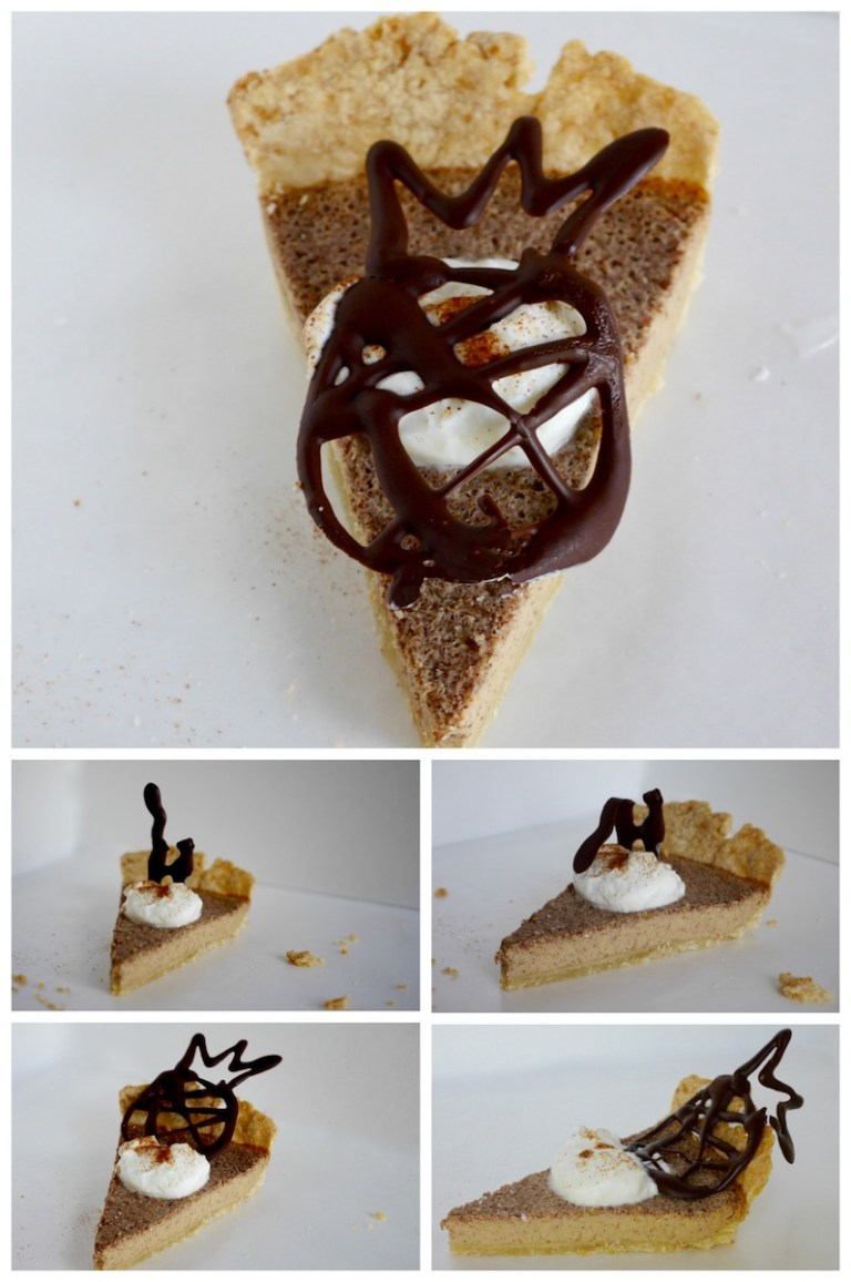 Cinnamon Pie with Chocolate Decoration