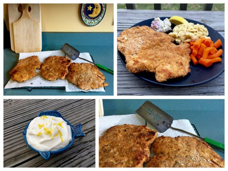 Baked-Chicken-Schnitzel-Dinner