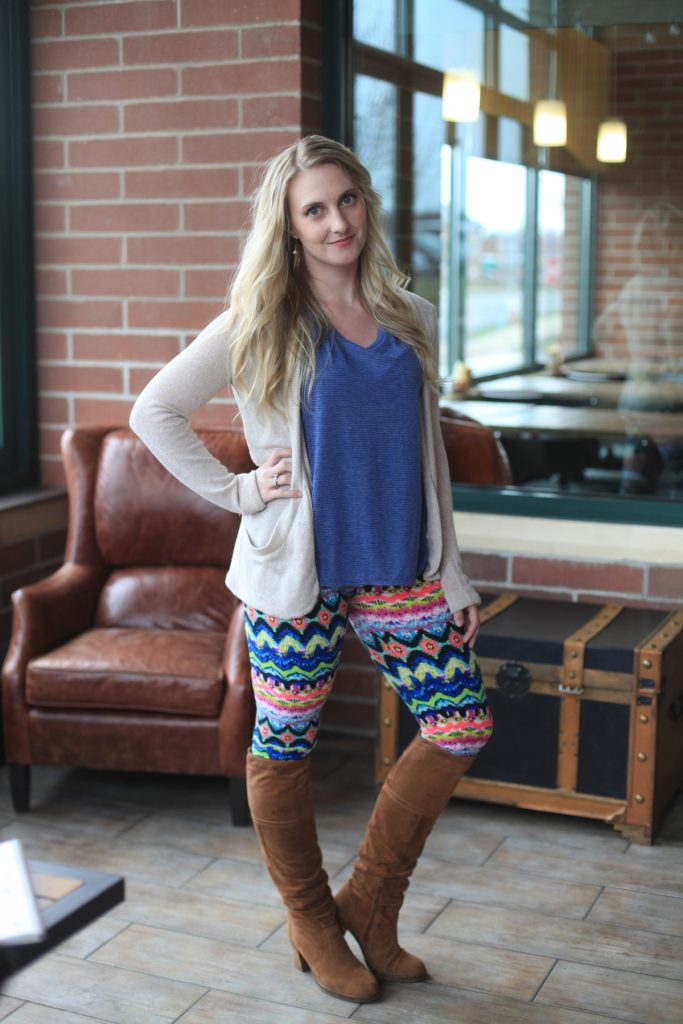 How to Wear Your Patterned Leggings // allynlewis.com