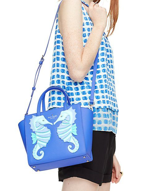 kate spade ny | breath of fresh air seahorse applique small hayden