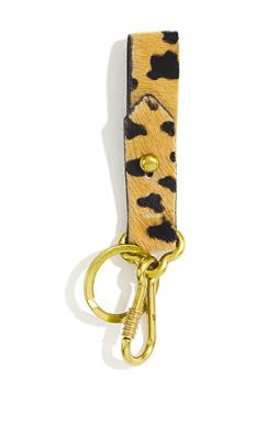 Madewell Calf Hair Keychain