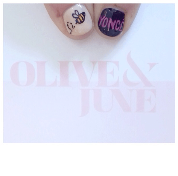 Olive and June Bee-yoncé nails