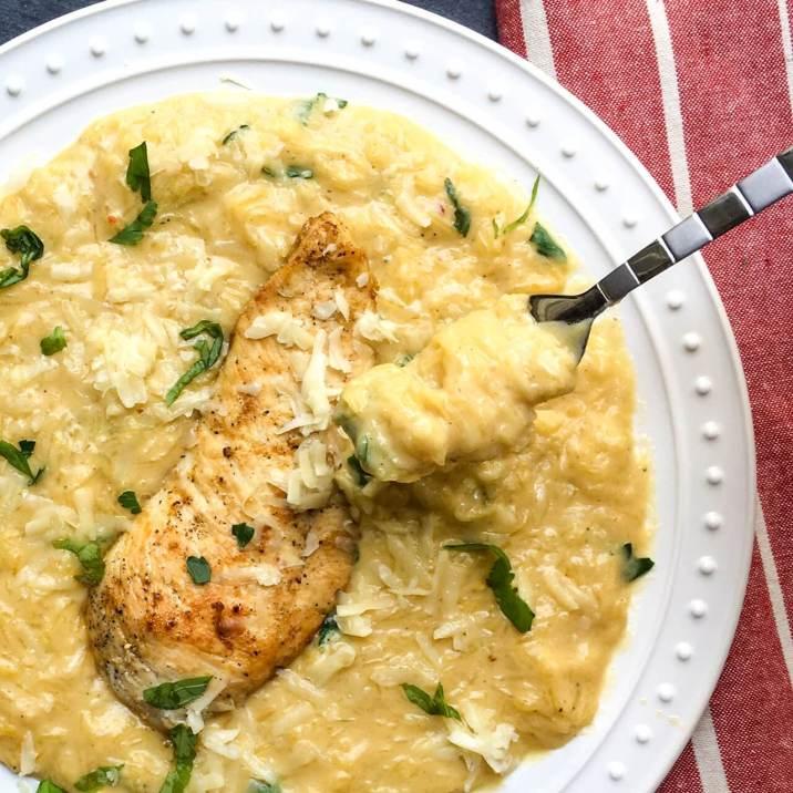 Chicken Alfredo Spaghetti Squash