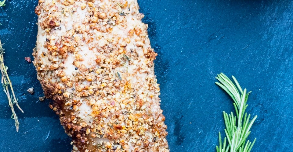 Pecan Crusted Pork Tenderloin