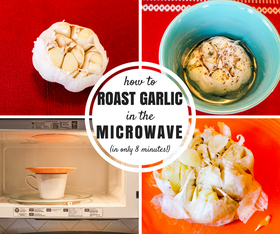 8-Minute Quick Microwave Roasted Garlic