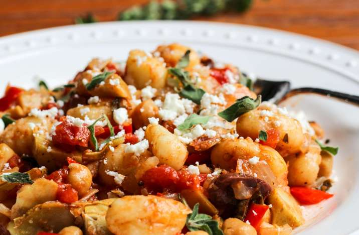 Quick Vegetarian Greek Gnocchi