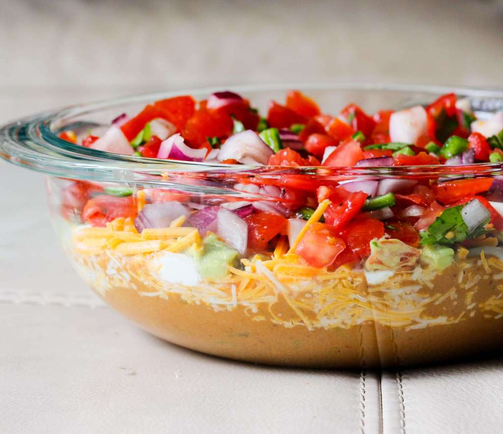 The Best Seven Layer Mexican Dip Appetizer