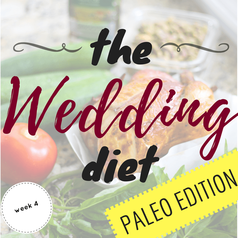 The Wedding Diet Week 4: Paleo Edition