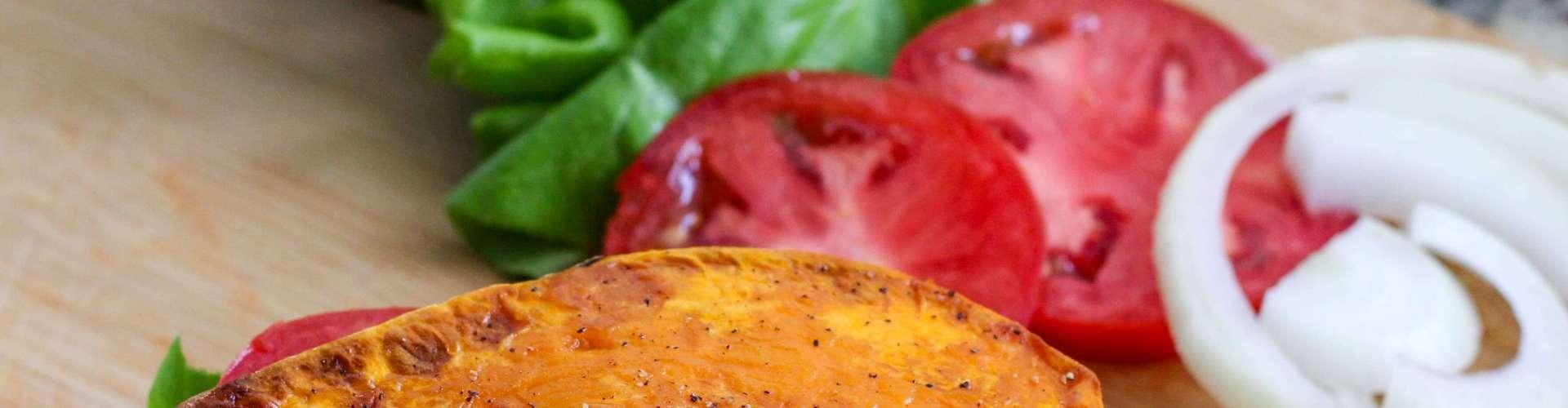 Paleo Buffalo Chicken Sandwich on Sweet Potato Buns