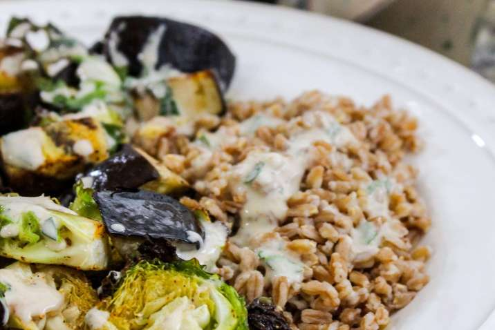Vegan Roasted Summer Veggies with Farro