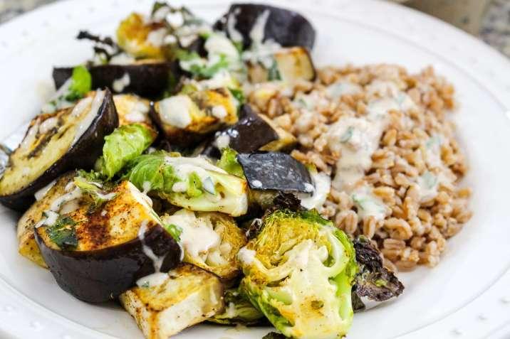 Vegan Roasted Summer Veggies with Farro