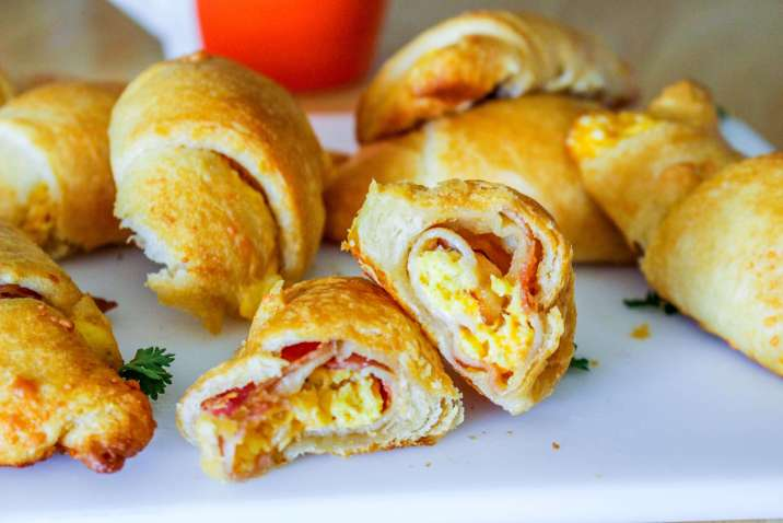 Breakfast Bacon, Egg, and Cheese Crescent Rolls