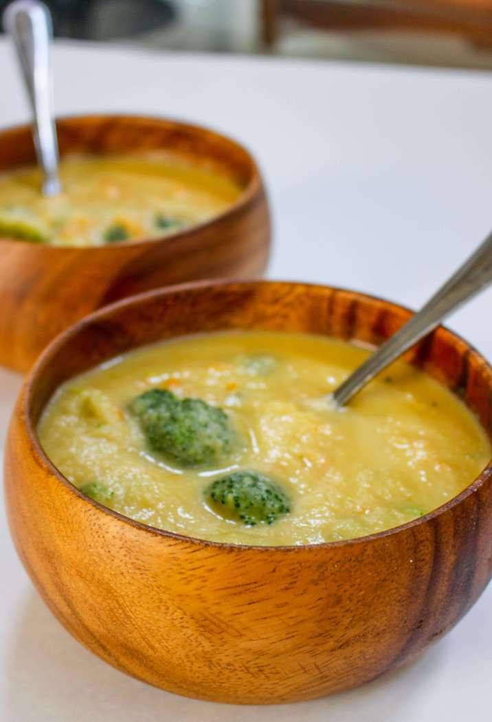Skinny Secret Ingredient Broccoli Cheese Soup