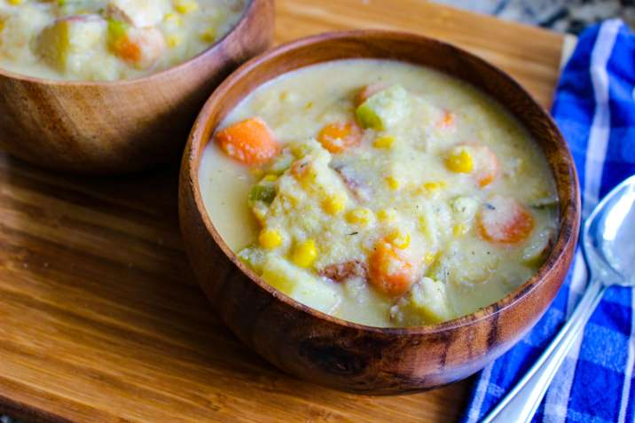 Lightened Up Chicken Corn Chowder