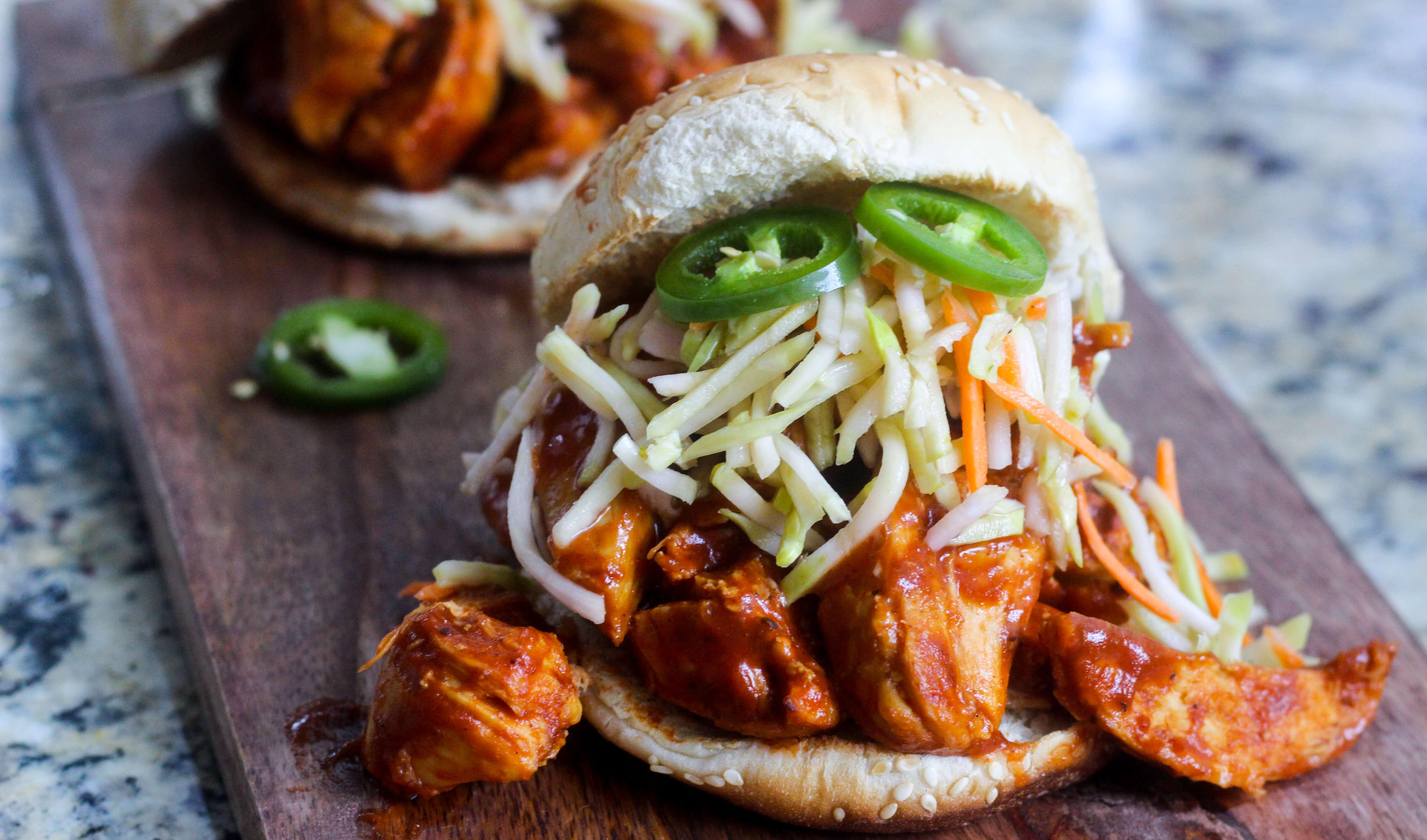 Easy Weeknight BBQ Chicken Sandwiches