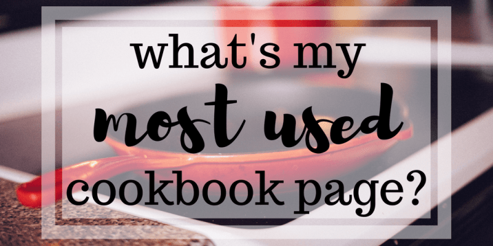My Most Used Cookbook Page
