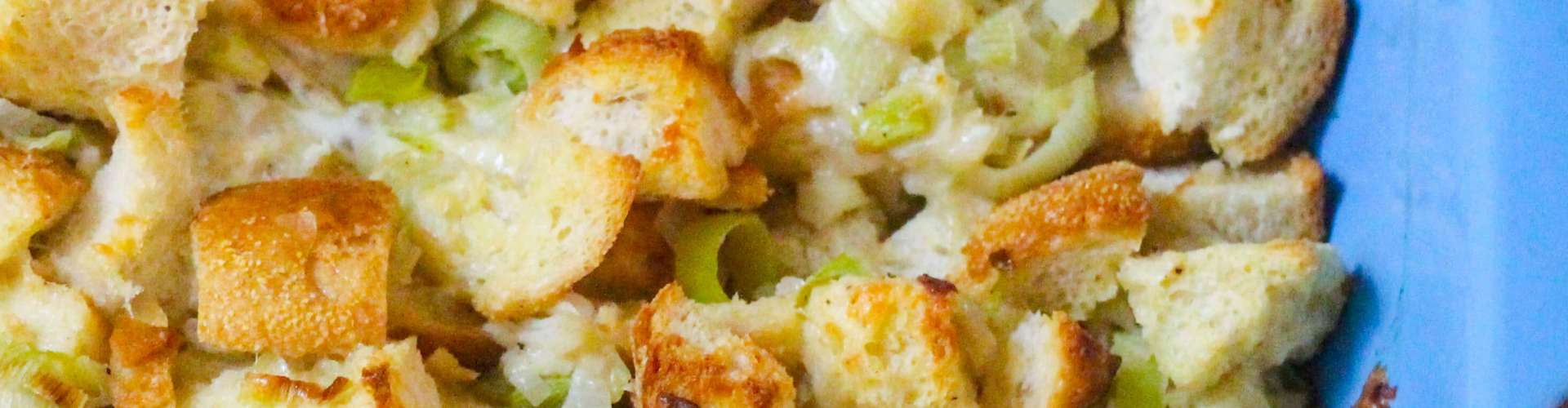 Cheesy Sourdough Stuffing