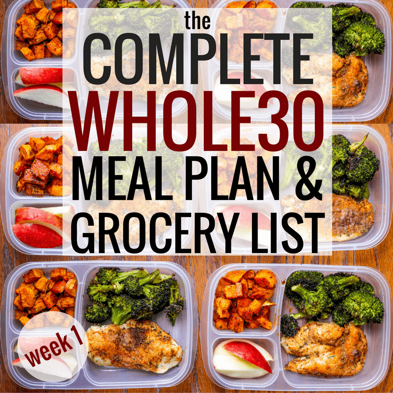 The Complete Whole30 Meal Planning Guide and Grocery List: Week 1