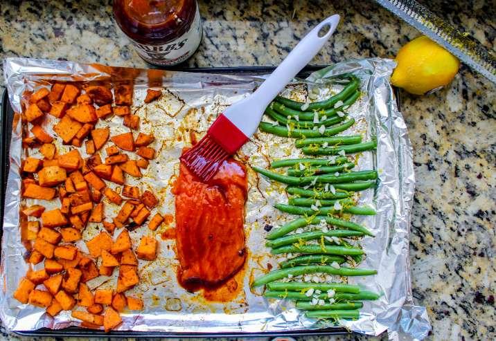 Sheet Pan BBQ Salmon