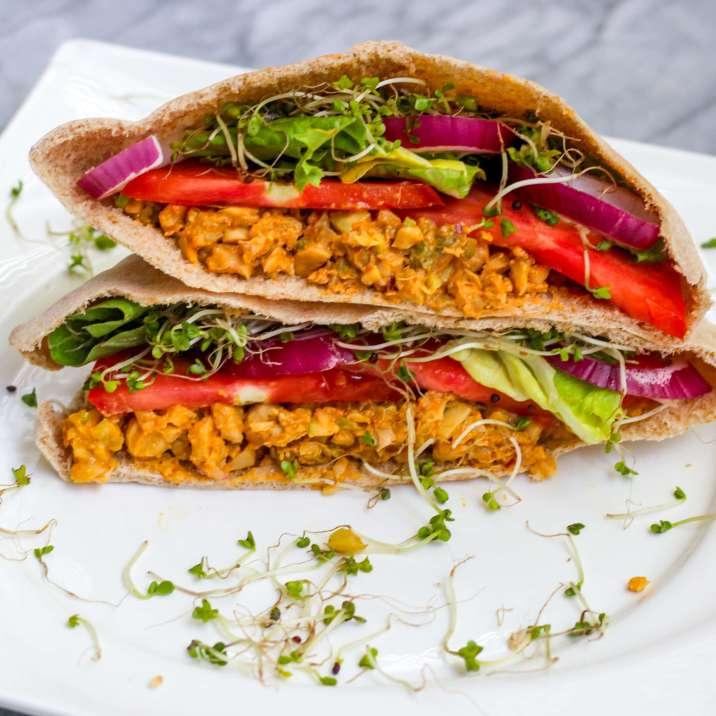 Vegan Chickpea Salad Pitas