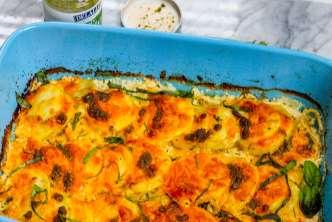 Herbed Potatoes Au Gratin with Pesto