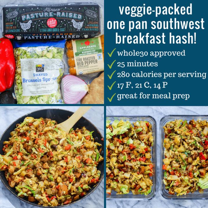 Veggie Packed One Pan Southwest Breakfast Hash