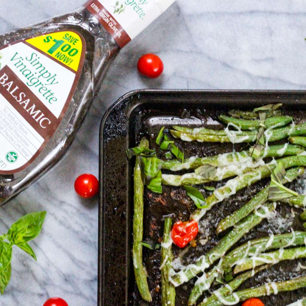 Sheet Pan Caprese Green Beans