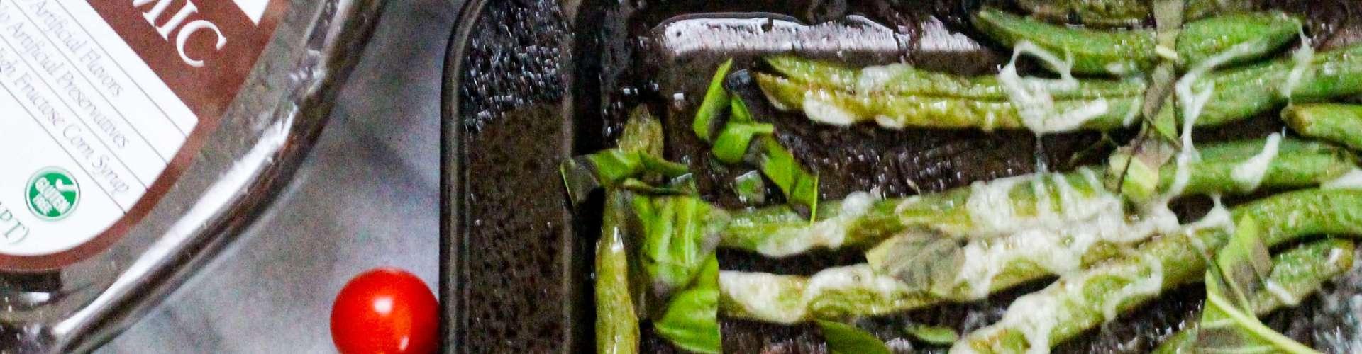 Sheet Pan Caprese Green Beans