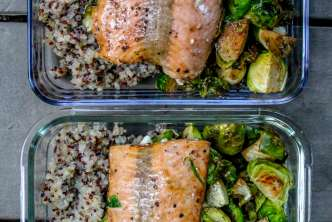 Sheet Pan Balsamic Salmon and Brussels Sprouts