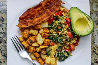 Healthy Southwest Breakfast Scramble