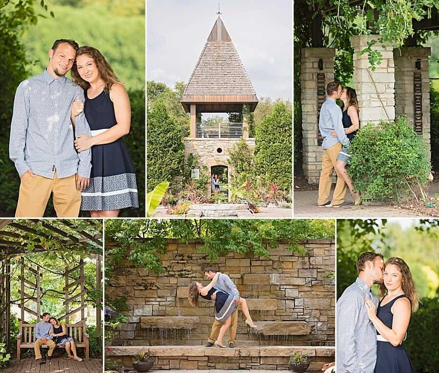 Olbrich Botanical Gardens Madison Engagement Photos