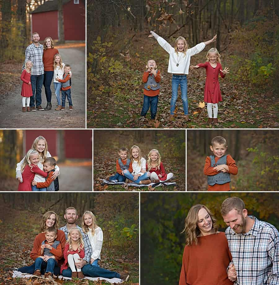 Hartford WI Family Photographer Session at Richfield Historical Society