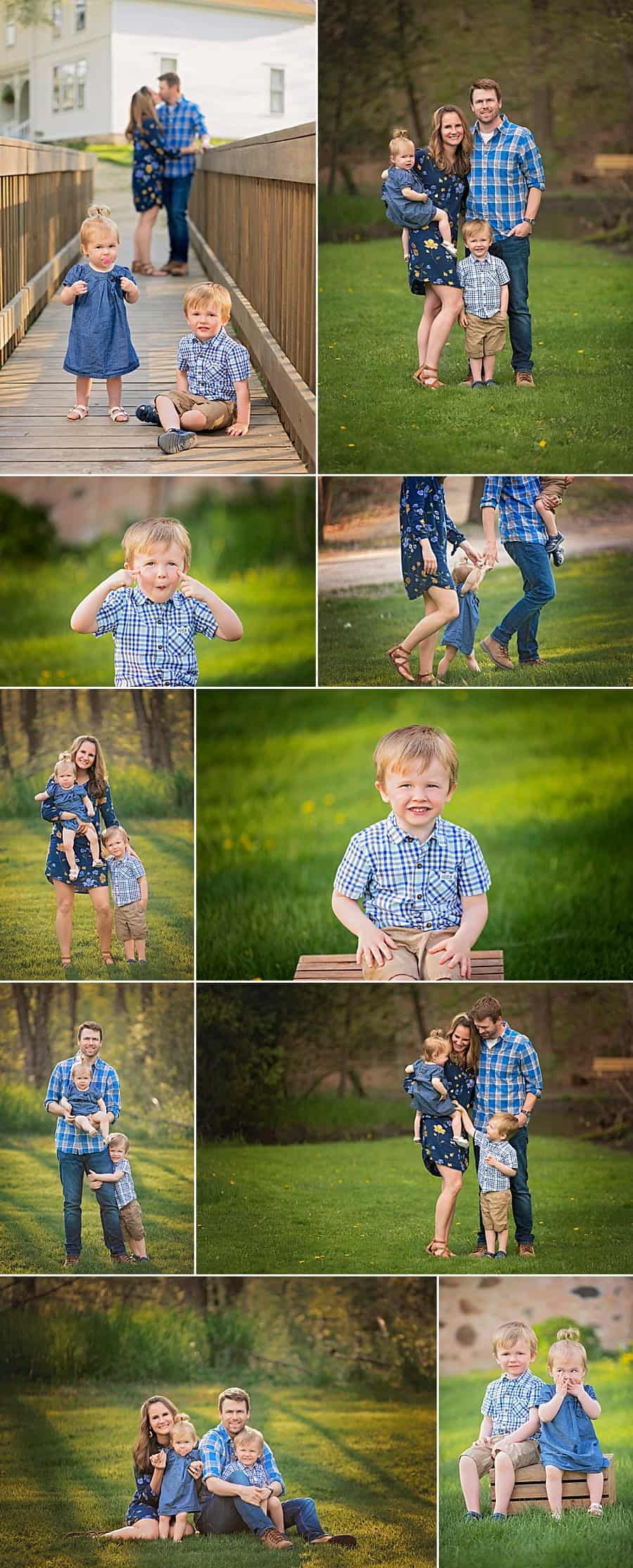 Milwaukee Family Photographer Session at Richfield Historical Society
