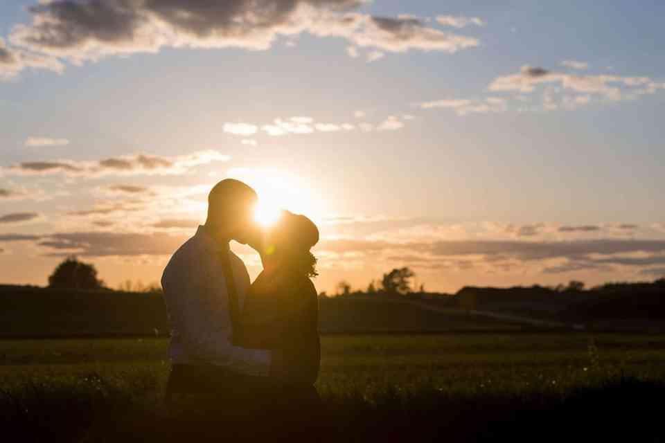 Wisconsin Wedding Sunset Silhouette