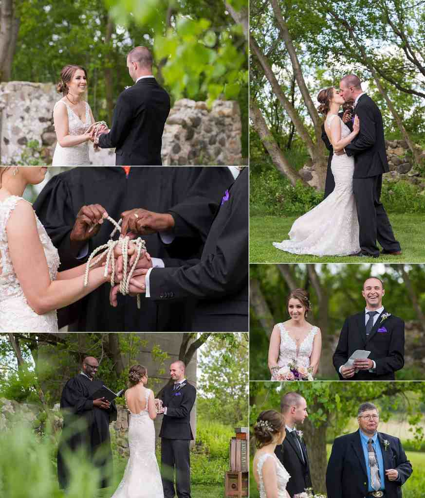 Outdoor Wisconsin Wedding by Barn