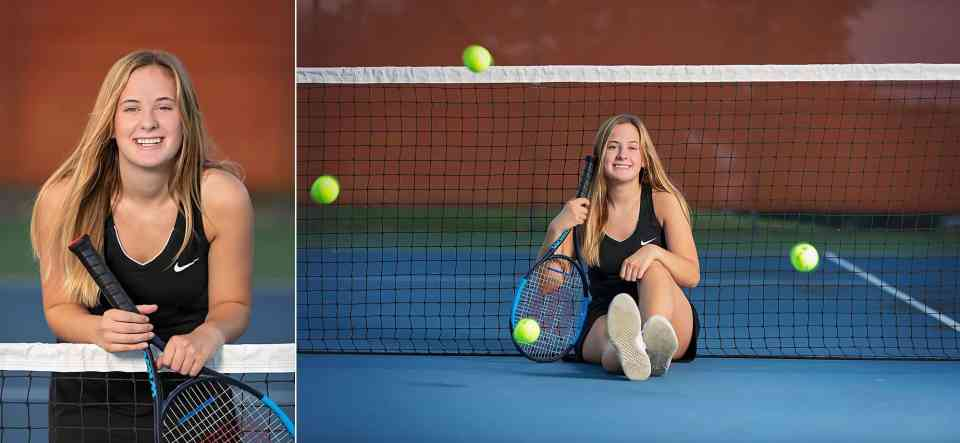 Senior Pictures at Hartford Union High School Tennis Courts