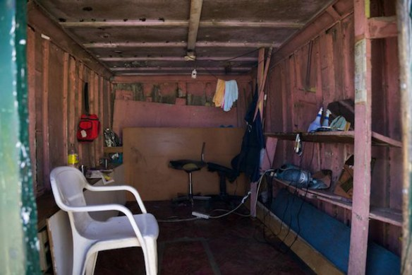 Hair salon in Langa Township, South Africa   (c) Allyson Scott