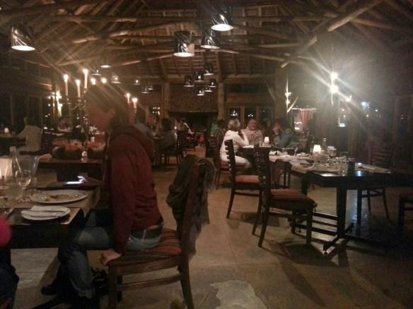 Dinner in the main lodge  (c) Allyson Scott