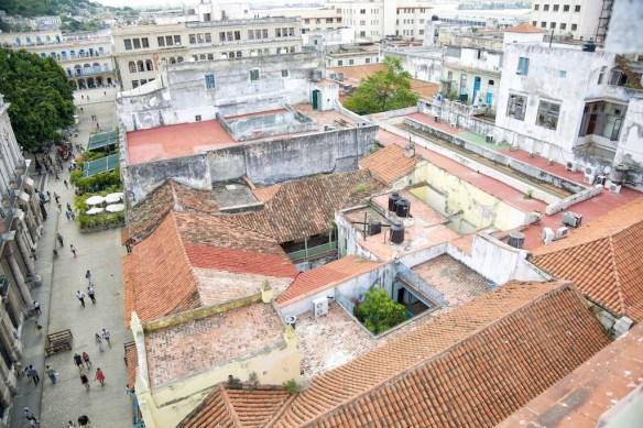 View from above Hemingway's room at Hotel Ambos Mundos