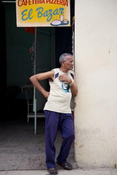 Man outside store in Matanzas