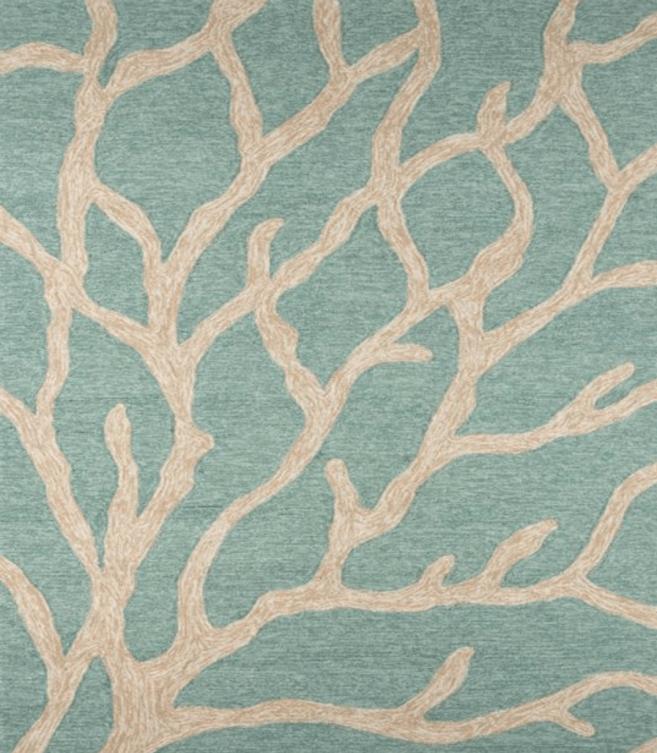 Coral beach decor rug